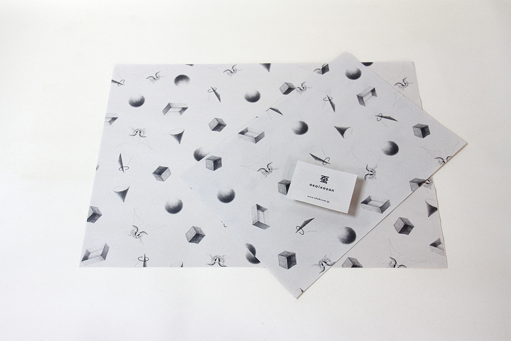 埼玉県所沢市の木のおもちゃとオーダー家具と印刷のデザインの制作をしている家具工房okaikosanのパッケージとショップカードの画像
