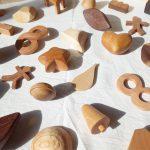 所沢市の家具工房のokaikosanのオーダー家具の保育園の木の積み木の画像